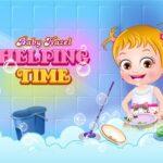 Baby Hazel Helping Time